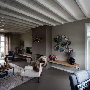 Sfeerbeeld van de zithoek in een woonkamer in Nobelhorst