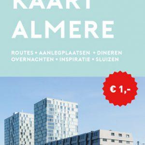 Voorkant van de VVV Ultieme Vaarkaart Almere